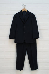 Navy Pinstripe Suit (Size 8) 2 Pieces