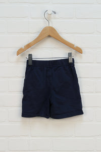 Navy French Terry Shorts (Size 24M)