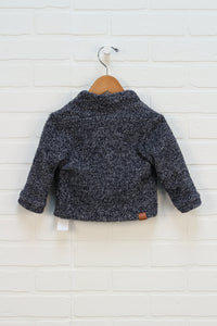 Heathered Navy Canadian Made Sweater (Size 12-18M)
