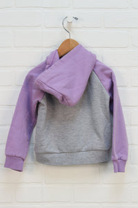 Heathered Grey + Lilac Hoodie (Size 3)