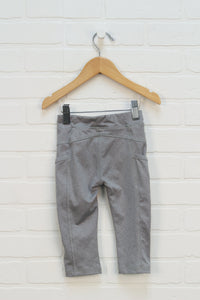Grey Cropped Athletic Leggings (Size 3)