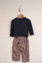 OUTFIT: Navy + Putty Set (Size 18M) 2 Pieces