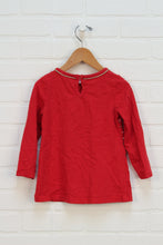Red + Gold Top (Size 3T)