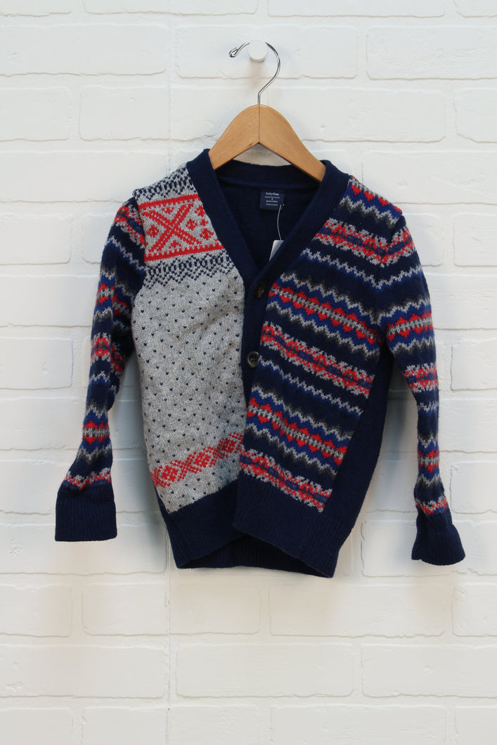 Navy + Grey Cardigan (Size 4)