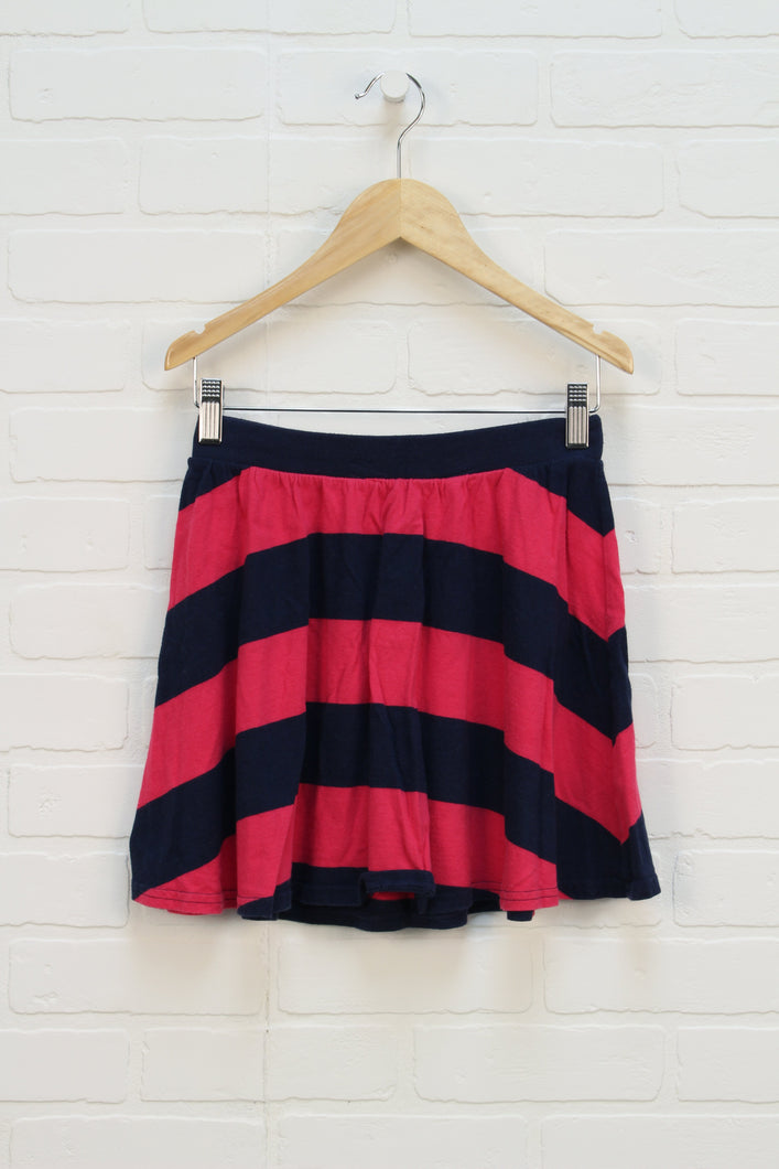 Navy + Hot PInk Skirt (Size L/10-11)