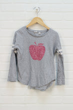 Heathered Grey + Hot Pink Graphic Top (Size S/6-7)