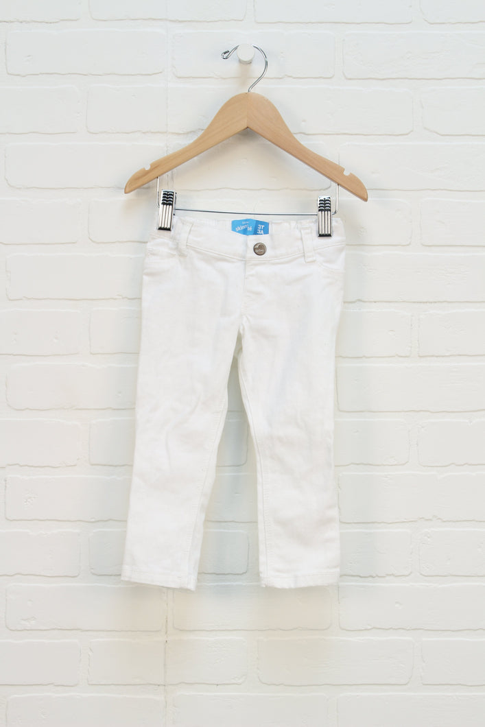 White Skinny Jeans (Size 3T)