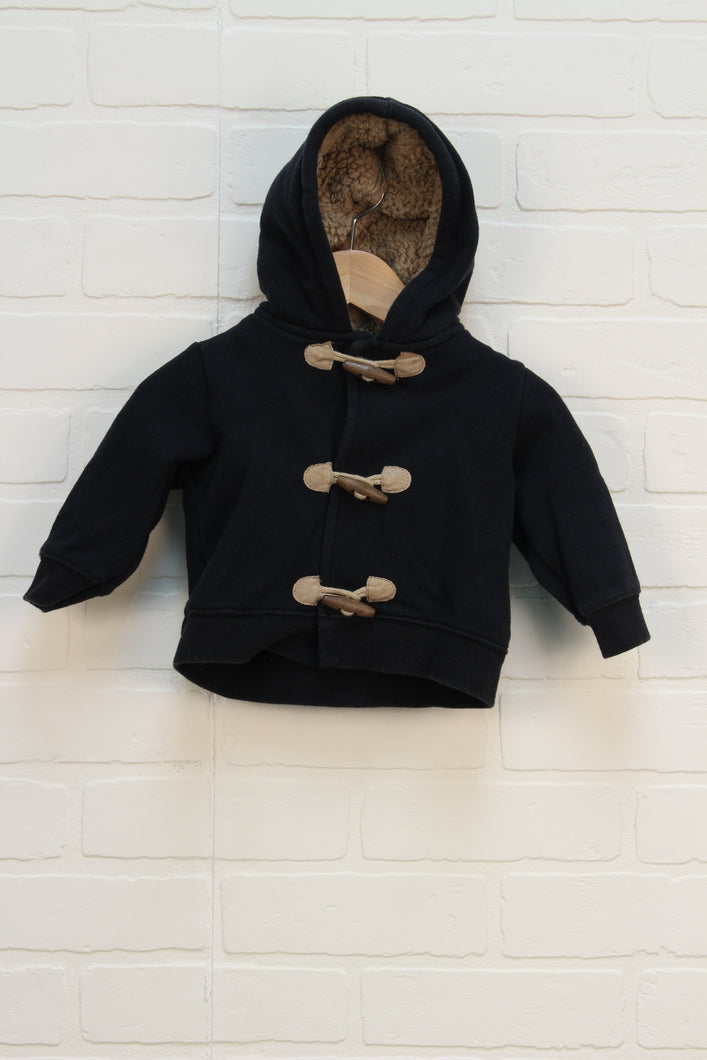 Navy Sherpa Lined Hoodie (Carter's Size 6M)