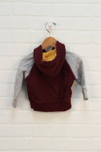Burgundy + Heathered Grey Hoodie (Carter's Size 6M)
