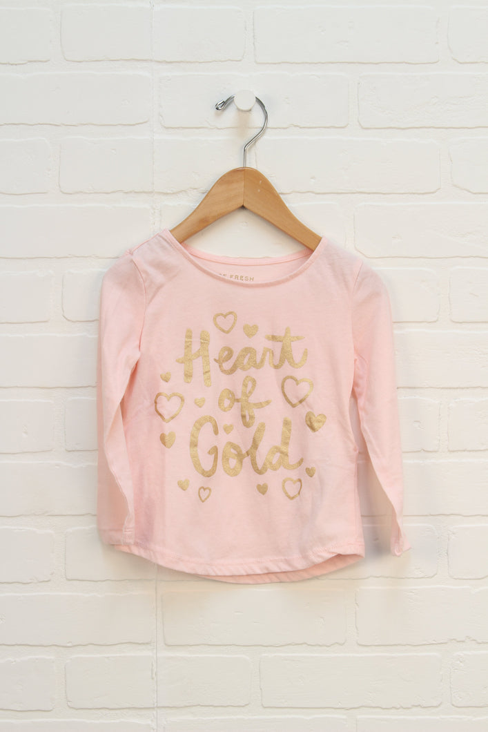 Blush + Gold Graphic Top (Size 3)