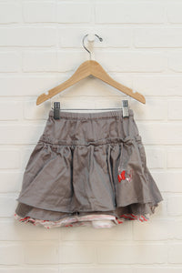 Putty Tiered Skirt (Size 4)