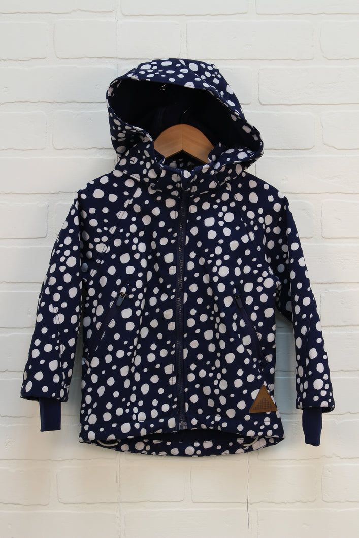 Navy + White Hooded Jacket (Size 92/1.5-2A)