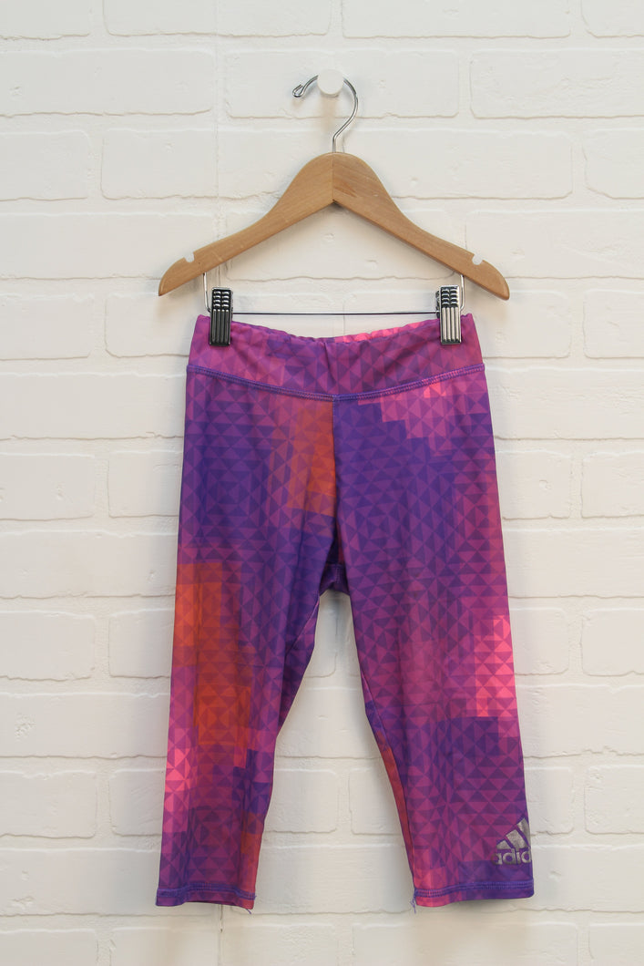 Purple + Coral Graphic Cropped Athletic Pants (Size 6X)