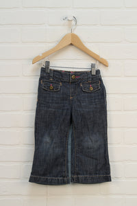 Vintage Wash Embroidered Jeans (Size 18-24M)