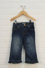 NWT Vintage Wash Ruffle Jeans (Size 24M)