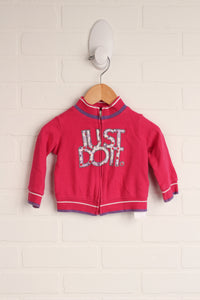 Hot PInk Zippered Sweatshirt (Size 3-6M)