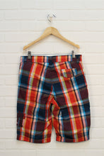 NWT Tomato + Teal Plaid Shorts (Size 13/14) *STAFF PICK*
