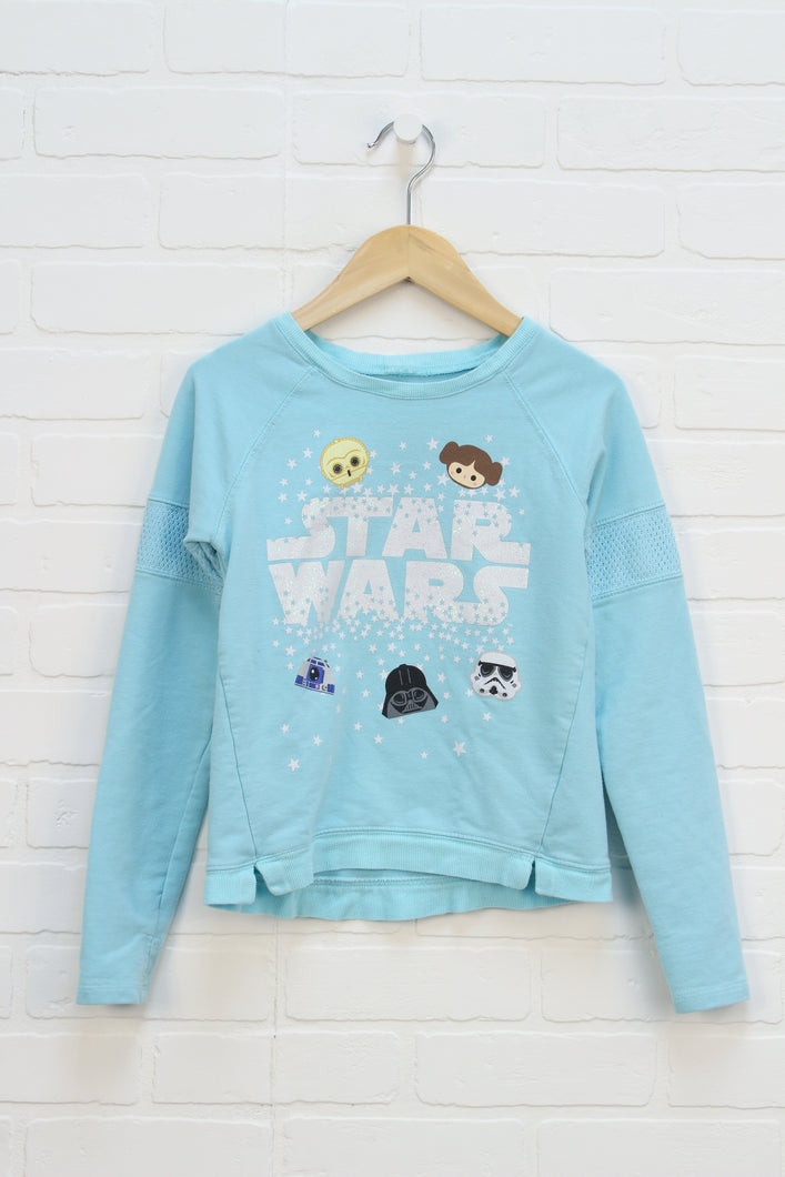 Turquoise Graphic Sweatshirt: Star Wars (Size M/7-8) *STAFF PICK*