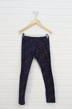 Navy + Multi Sparkle Leggings (Size L/10-12)