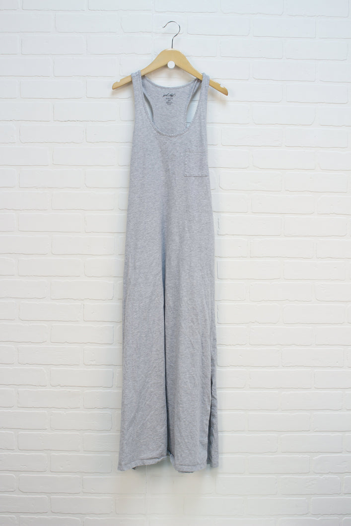 Heathered Grey Tank Maxi Dress (Women's Size S)