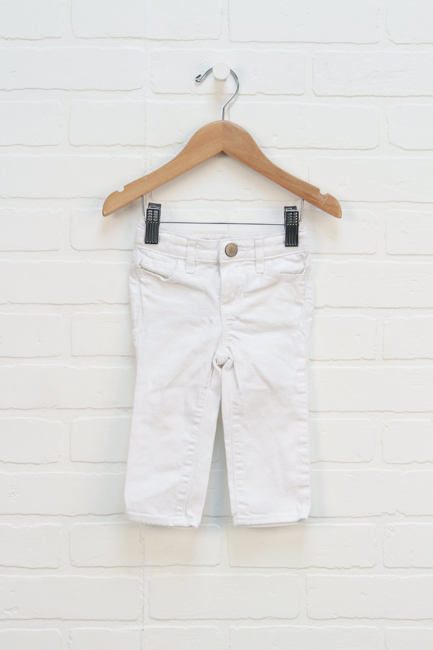 White Skinny Jeans (Size 12-18M)