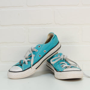 Turquoise Chucks (Big Kids Shoe Size 1)