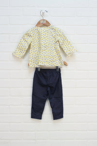 Outfit: Denim + Yellow Set (Carter's Size 9M) 2 Pieces