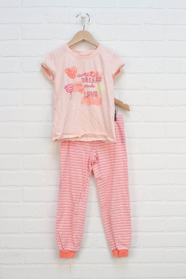 Peach Pajamas (SIze S/6-7) 2 Pieces