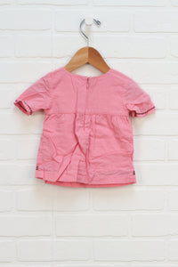 Pink + Brown Top (Size 6-12M)