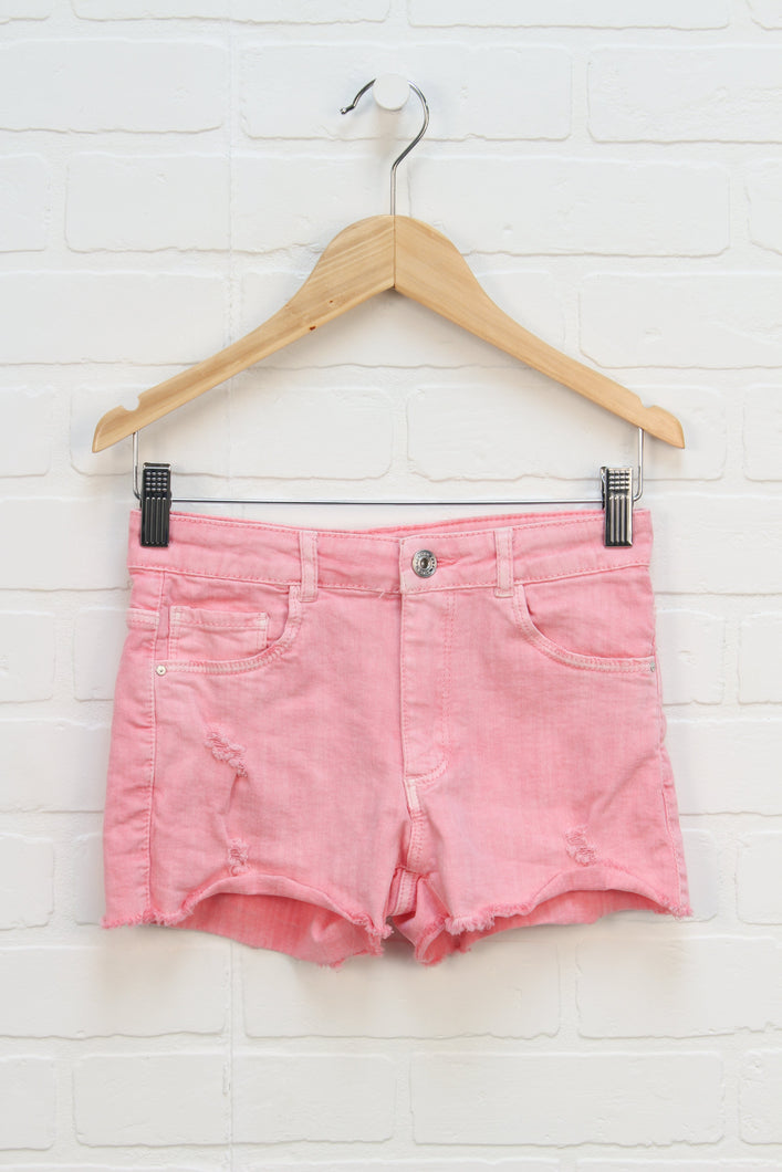 Hot Pink Distressed Wash Jeans (Size 140/10)