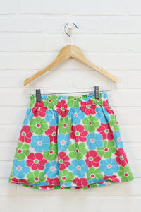 Lime + Hot Pink Floral Skirt (Size 8)