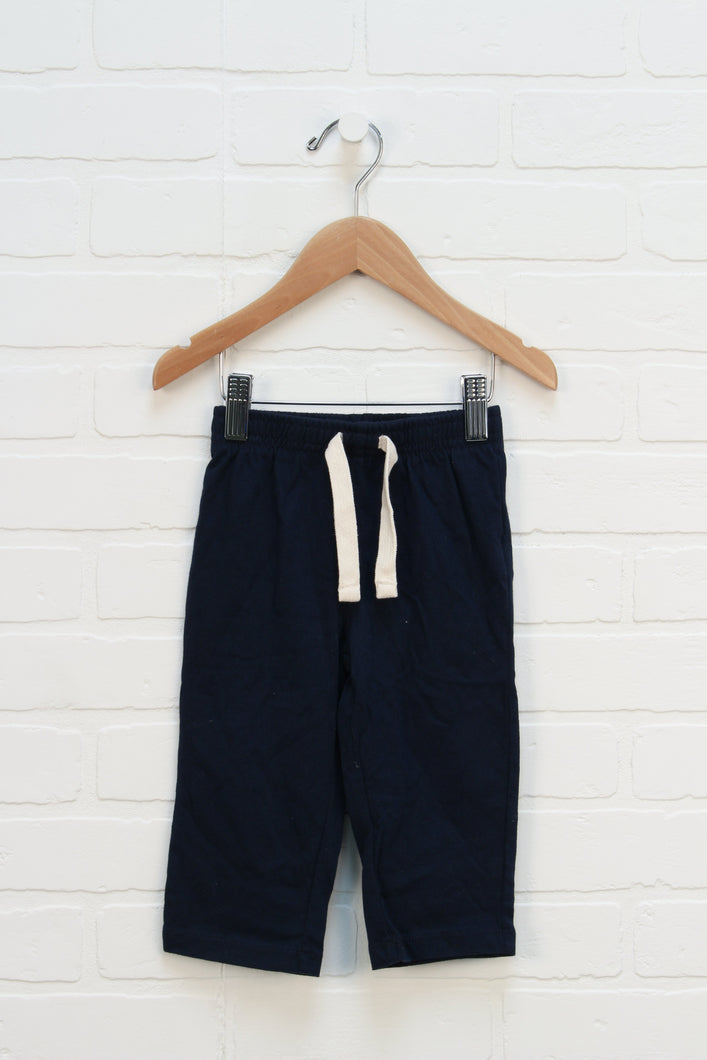 NWT Navy Pull On Pants (Size 12-18M)