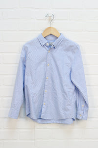 Light Blue + White Button Up (Size 130/8)