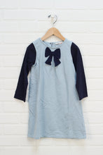 Light Blue + Navy French Terry Dress (Size 4)