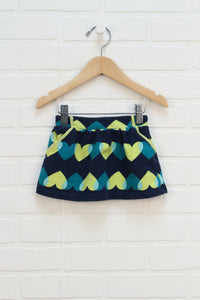Navy + Yellow Graphic French Terry Skirt (Size 12-18M)