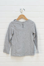 Heathered Grey Peter Pan Collar Top (Size 5)