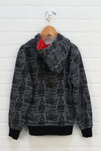 Grey + Black Graphic Hoodie: Cars (Size 6)