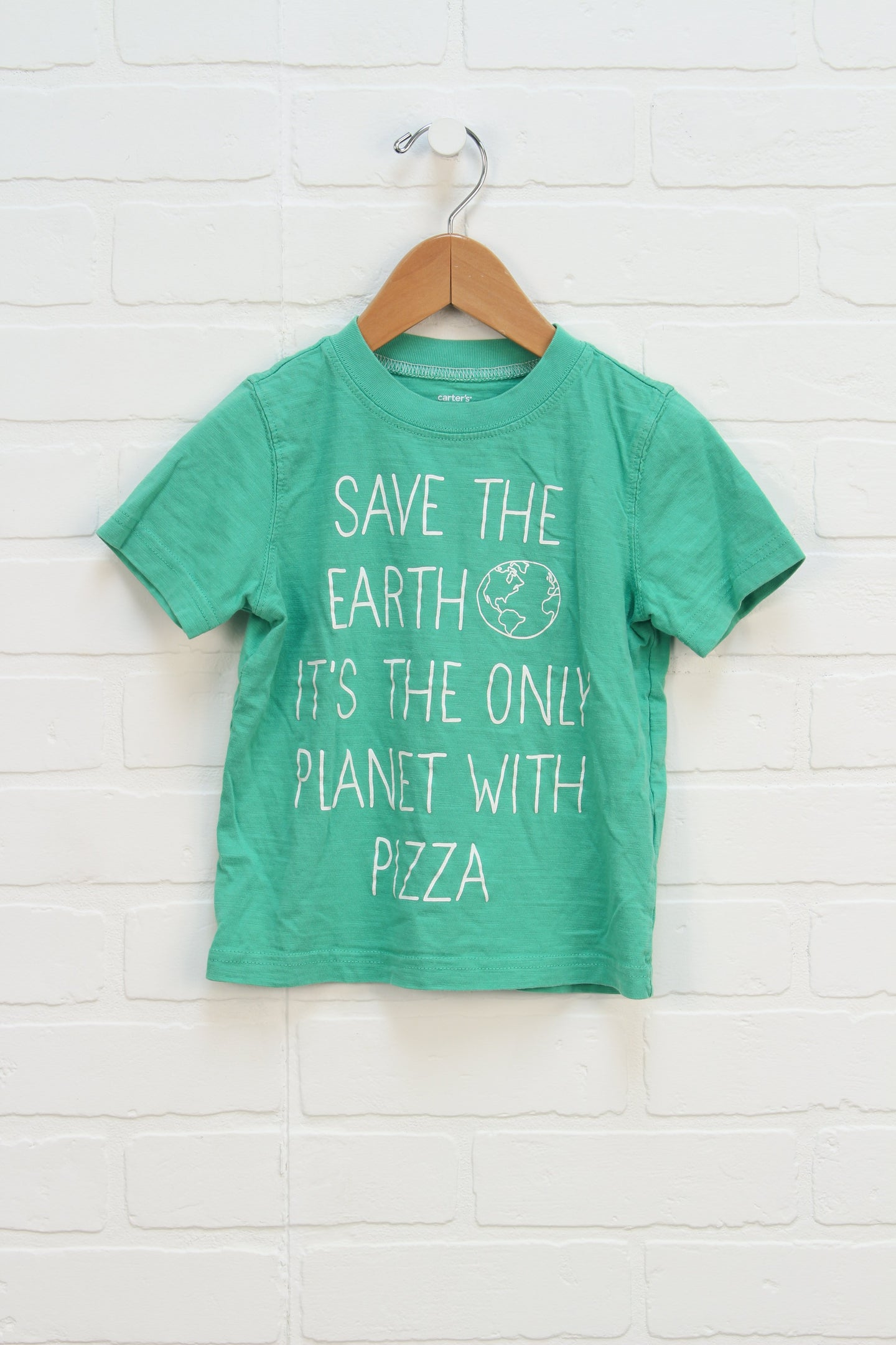 Green Slubbed Graphic T-Shirt (Size 2T) *STAFF PICK*