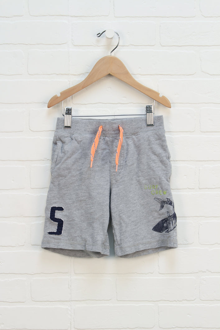 Heathered Grey Graphic Shorts (Size 4)