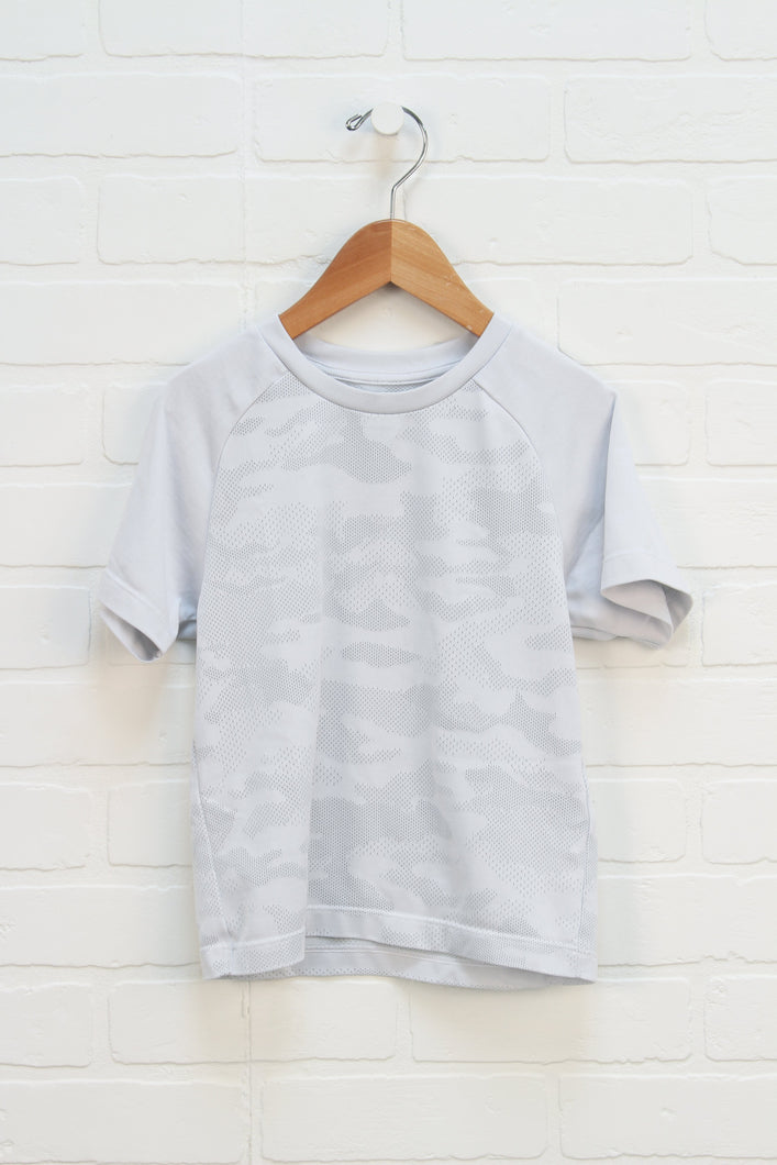 White Athletic T-Shirt (Size 3-4)