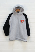 Heathered Grey Logo Hoodie: Calgary Flames (Size 6X)
