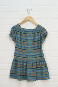 Green + Navy Striped Tunic (Size 6)