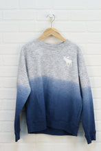 Heathered Grey + Blue Sweatshirt (Size 11/12)