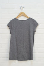 Grey Flip Sequin T-Shirt (Size XL/14)