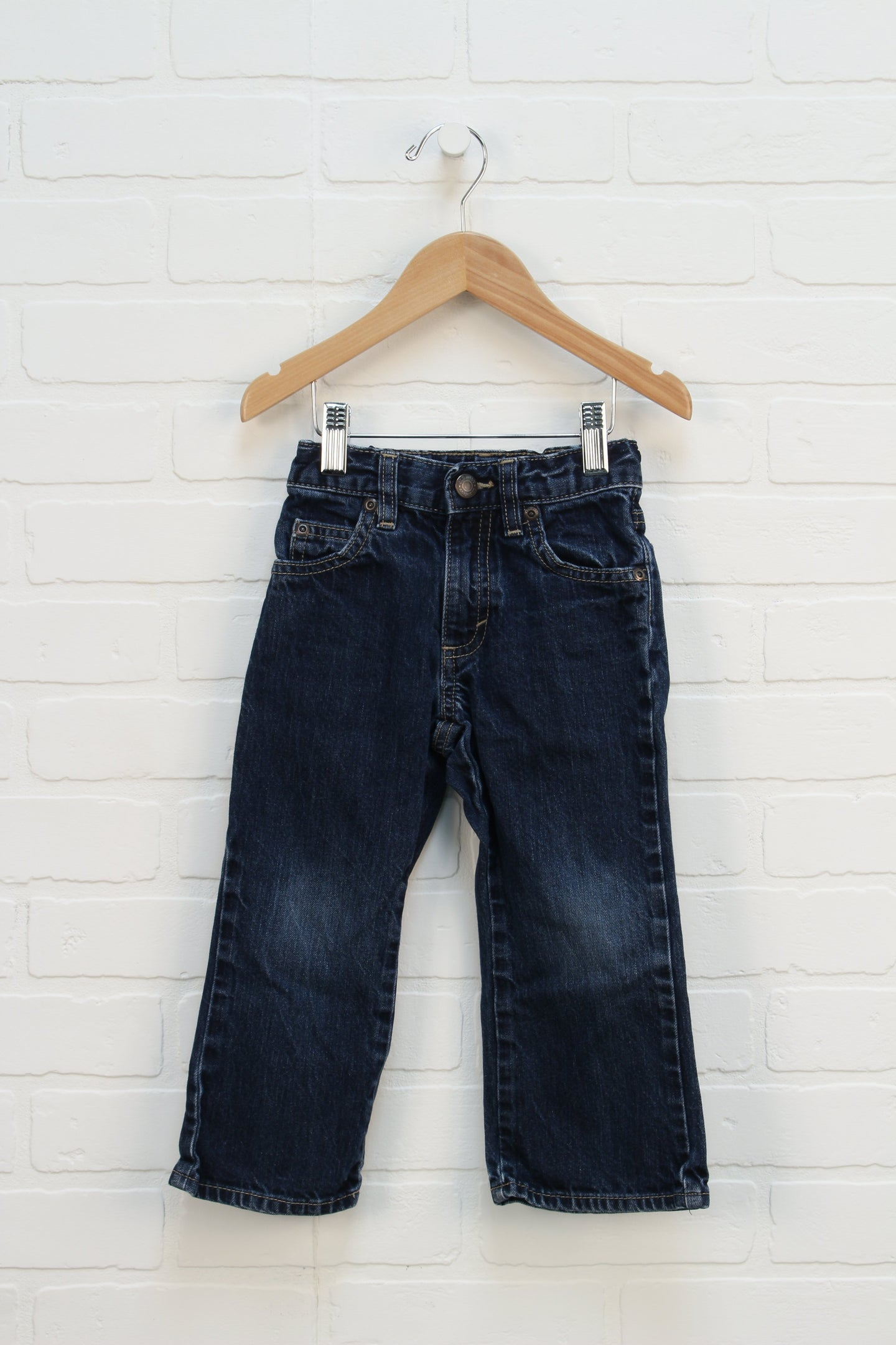 Dark Wash Straight Leg Jeans (Size 3T)