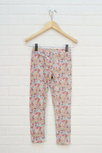 Raspberry + Mustard Floral Leggings (Size 7)