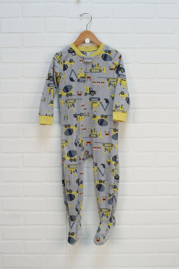 Grey Fleece Sleeper: Construction (Size 3T)