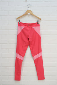 Fluorescent Pink Athletic Leggings (Size L/12)