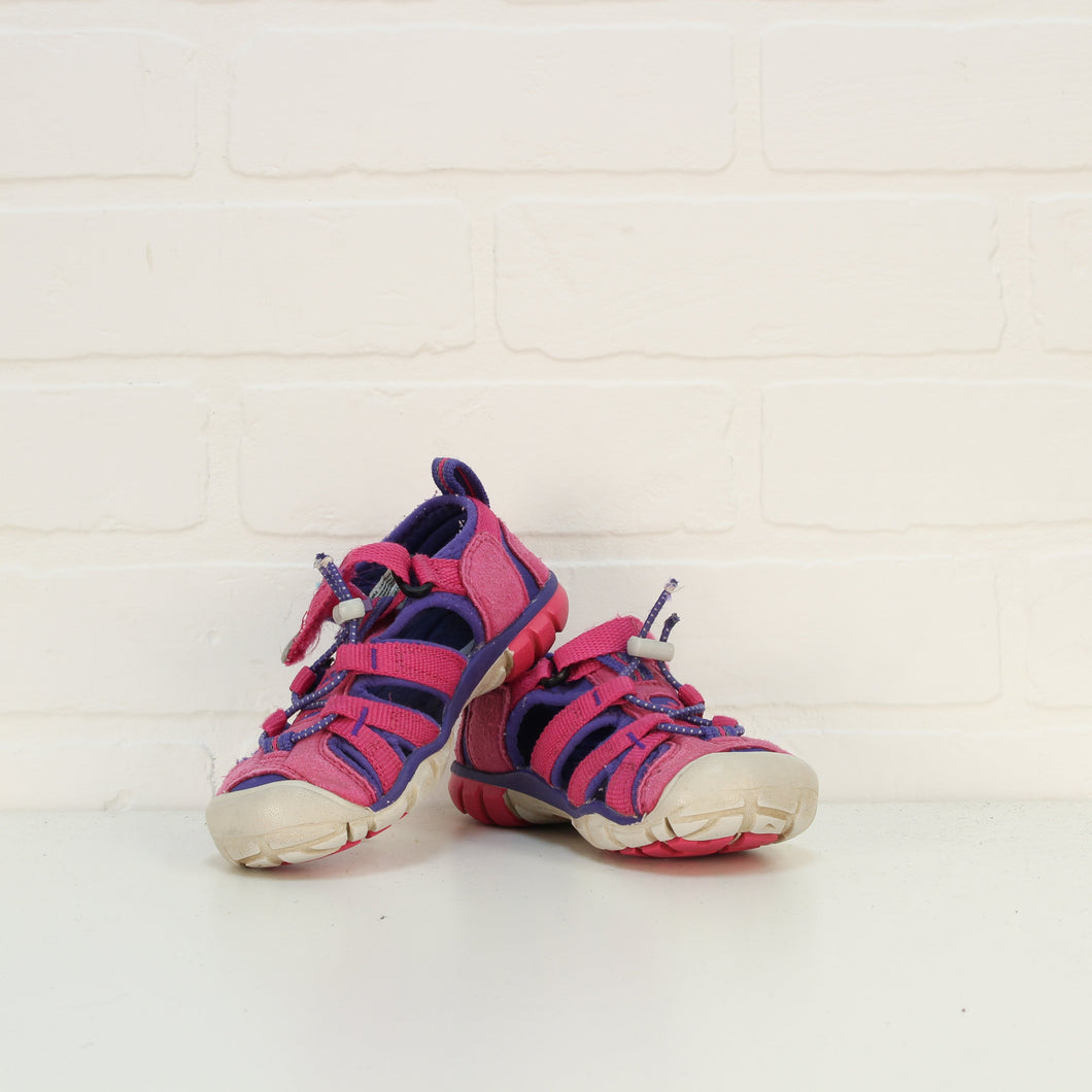 Hot Pink + Purple Sandals (Little Kids Shoe Size 10)