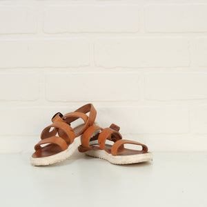 Brown Handmade Greek Leather Sandals (Little Kids Shoe Size 28/11)
